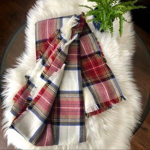 Merona oversized cozy plaid scarf